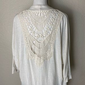 Lace Backed Cream Cover Up